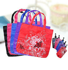 Folding Clips Shopper Pouch Shopping Eco Reusable Tote Shoudler Bags