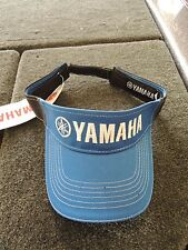 Yamaha Outboards blue black visor Fishing hat cap bass apparel gear clothing