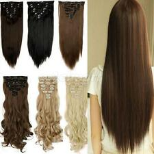 SNAP U shape CLIPS FOR HAIR EXTENSION WEFT WIG BLONDE BROWN 32mm 10PCS