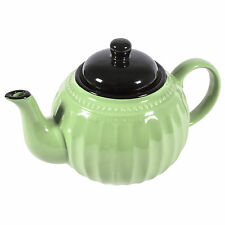 Traditional Green Teapot 1100ml Shabby Chic Retro Afternoon Tea Jug Pot Boxed