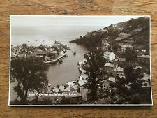 LOOE HARBOUR Entrance CORNWALL Cornish Postcard B/W Real photo Fishing Boats