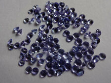1mm -6mm Faceted Cut Round Natural Tanzanite Top Quality AA Color Loose Gemstone