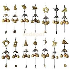 Traditional Chinese Copper Feng Shui Hanging Wind Chime 3 Bells Garden Ornament