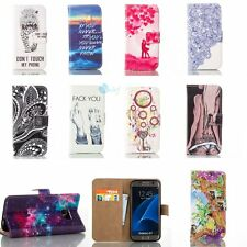 Hybrid Leather CARDHOLD FLIP STAND GEL Cover Back Case For Samsung Galaxy Series