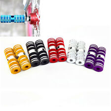 """2pcs Cycling BMX Bike Bicycle Cylinder Aluminum Alloy 3/8"""" Axle Foot Pegs  RE"""