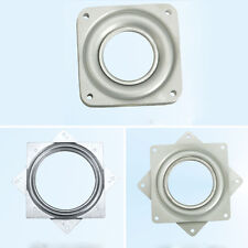 "Square Bearing Swivel Plate Metal Lazy Susan Turntable 4""/6"" TV Rack Desk Tool"