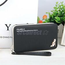 Women Fashion Clutch Leather Long Handbag Lady Card Coin Holder Wallet Purse