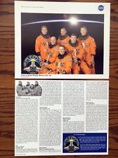 """Official NASA Space Shuttle Mission STS-132 Crew Poster -- 8"""" x 10"""" 2-sided"""