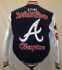 Atlanta Braves Men S, M Snap-Up Embroidered Cloth Champions Jacket MLB A14MLF