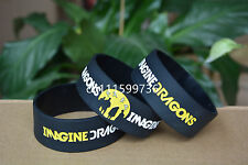 "IMAGINE DRAGONS Silicone Rubber 1"" Wide Debossed Wristband Bracelet"
