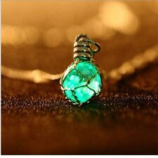 Waterdrop Glow In The Dark Pendant Necklaces Luminous Fashion Jewelry Charm
