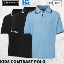 Polo Kids Shirt Contrast Collar Boys Girls Tops New Game Players Wear Size  4-14
