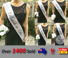 Silver Wedding Sashes Hens Night Engage Bride To Be Bridesmaid Maid of Honour