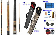 Viper Sinister 50-1252 Pool Cue Stick Natural Stain Vibrant Points 18-21oz
