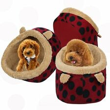 Soft Red Ear Pet Dog Cat Bed House Kennel Doggy Puppy Warm Cushion Basket Pad
