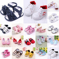 0-18M Newborn Baby Girls Boy Crib Shoes Kids Soft Sole Sneaker Toddler Prewalker