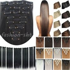 """7pcs 15"""" 18"""" 20"""" 22"""" Clip In Remy Real 100% Human Hair Extensions Full Head US"""