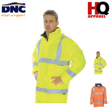 Hi Vis D/N Breathable Rain Jacket with 3M R/Tape Brand New Clothes 3871 dnc
