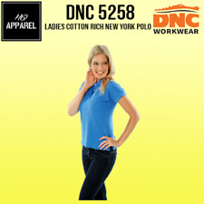 Ladies Cotton Rich New York Polo Work Wear Brand New Clothes 5258 dnc
