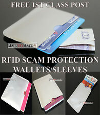 RFID Sleeve Contactless Protection Wallet Credit Card & Passport Holder, Lot