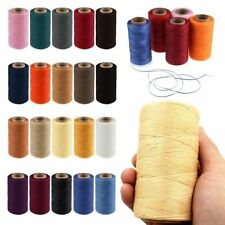 Cord Waxed Thread Wax DIY Bracelet Jewelry Linen Spool Leather Craft Sewing 260m