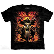 THE MOUNTAIN GRIM RIDER UNDEAD BIKER HELL MOTORCYCLE REAPER T TEE SHIRT S-5XL