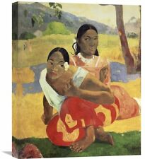 'When Will You Marry' by Paul Gauguin Painting Print on Wrapped Canvas