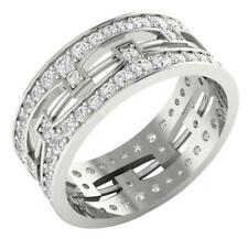 SI1/G Huge 2.00 Ct Prong Set Diamond In 14Kt Gold Eternity Engagement Ring Band