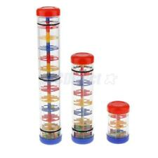 Plastic Rain Sound Maker Shake Colorful Beads Kids Learn Play Toy Gift YOU WISH