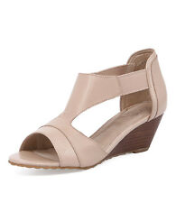 Zensu Caviar Taupe Multi Leather Women Shoes Casuals Sandals Wedges