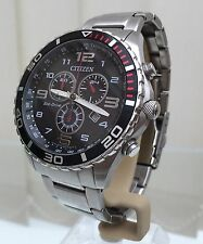 MENS CITIZEN ECO-DRIVE  H500 SOLAR CHRONOGRAPH WRISTWATCH WR 100m(p108