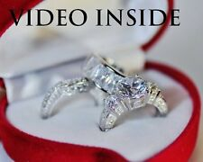 His&Hers 6.8CT Engagement & Wedding Engagement/Wedding Ring Sets St.Silver JW9Q