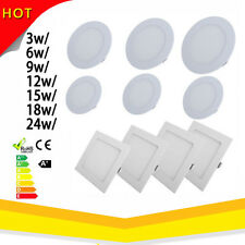3/6/9/12/18/24W LED Ceiling Panel Down Lights Recessed AC 85V-265VLamp Bulb