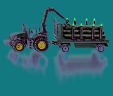 Siku Tractor with Forestry Trailer - 1:87 Scale - Toy Vehicle