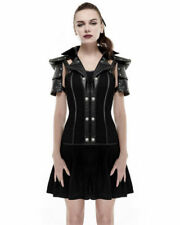 Punk Rave Military Dress Black Goth Steampunk Dieselpunk Leather Armour Harness