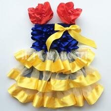 Baby Girls Toddler Princess Snow White Halter Bowknot Layered Tutu Dress 12M-3Y