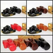 Leather Camera Case Cover Bag For Nikon D3100 D3200 D3300 With 18-55mm Lens
