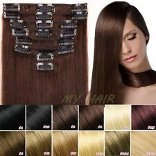 Real Clip in remy Human Hair Extensions 16 18 20 22 22inches - 65g 70g 80g XL011
