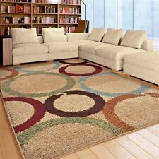 RUGS AREA RUGS CARPET SHAG RUGS 8x10 AREA RUG MODERN LARGE BEIGE FLOOR BIG RUGS