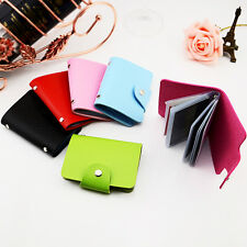 New Pocket Faux Leather Bifold Business Credit ID Card Photo Holder Wallet Purse