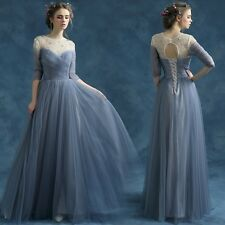 2016 New Blue Long Party Dress Strapless Prom Dress Evening Dress Formal Gowns