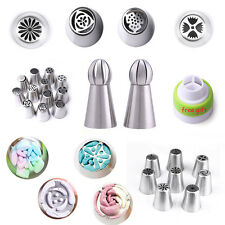 Russian Stainless Icing Piping Bag Nozzle Set Pastry Tips Fondant DIY Cake Decor