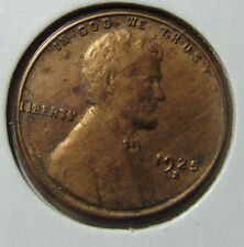 1925-S 1C BN Lincoln Cent AU Coin Cleaned
