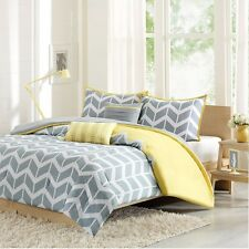 Grey and White Nadia Comforter Set with Decorative Pillows & Shams