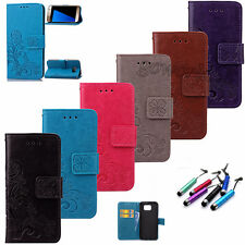 NEW Protector Flip Stand Leather Card Hoder Wallet Case Cover For Samsung Phone