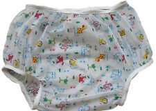 Baby Pants Jungle Friends PEVA plastic pants in Adult Sizes - Extremely Crinkly