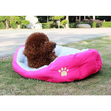 Small Large Dog Puppy Cat Pet Soft Cotton Fleece Cozy Warm Nest Bed Mat House E