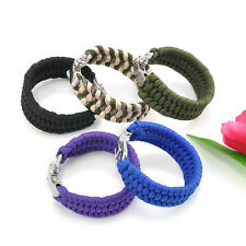 Fashion ParaCord Rope Outdoor Survival Bracelet Camping Steel Shackle Buckle New