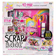 Kids Ultimate Scrapbook~  40-Page~ Over 800 accessories~ Summer Activity~