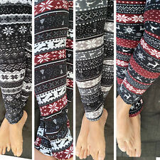 Brushed Fleece Fur Warm Unique Hot Print LEGGINGS Stretch Thick Winter